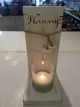 Ljuslampetter med text 225:-