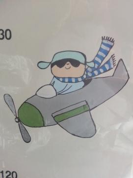 Motiv: Flygplan med pojke