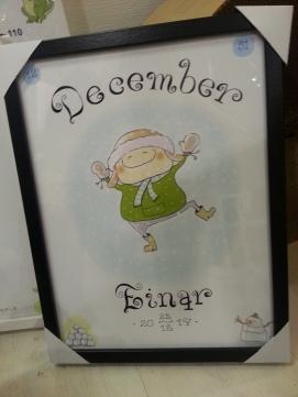 Månadstavla december 289:- inkl.text och ram