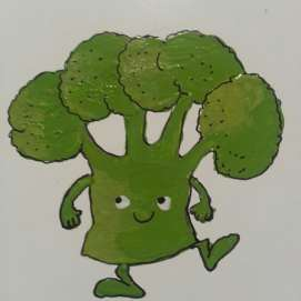 Motiv: Broccolifigur